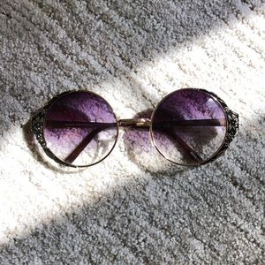 Vintage Style Floral Sunglasses UV400 Protection